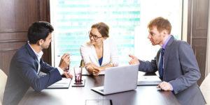 Reunión sobre el registro de una marca